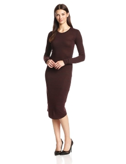 RD Style - Long Sleeve Knit Midi High Low Dress