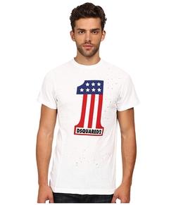 Dsquared2  - Long Cool Twisted Print T-Shirt