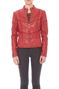 Coalition - Contoured Faux Leather Jacket