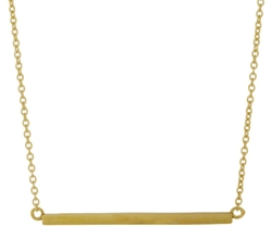 Jennifer Meyer - Bar Pendant Necklace