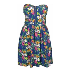 Birdcage - Chiffon Floral Bandeau Dress