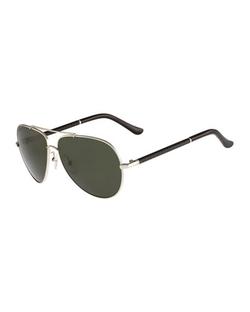 Salvatore Ferragamo - Gancino Aviator Sunglasses