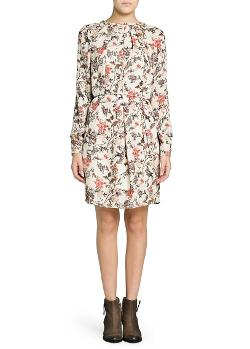 Mango  - Floral Print Flowy Dress