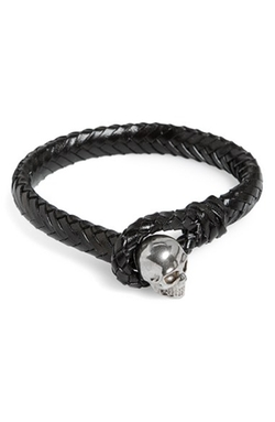 Alexander McQueen  - Braided Leather Bracelet