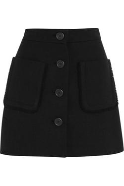 Miu Miu  - Wool Crepe Mini Skirt