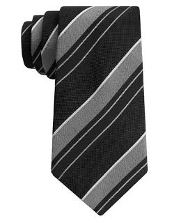 John Varvotas U.S.A - Silk Classic Stripe Tie