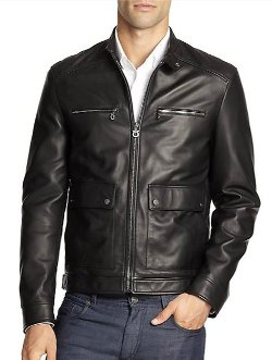 Salvatore Ferragamo - Quilted Leather Moto Jacket