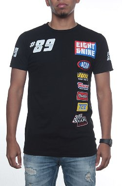 8&9 Clothing  - Drag Race Custom Jersey Tee Black