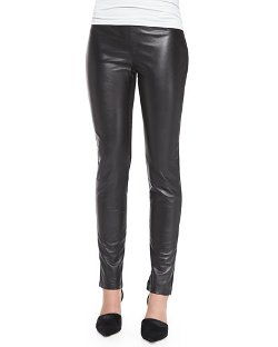 Dawn Levy   - Leather & Ponte Leggings
