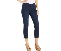 Style&co. - Bling-Pocket Tummy-Control Curvy Cropped Jeans