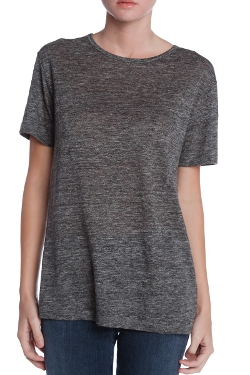 T by Alexander Wang - Short Sleeved Linen Tee Shirt