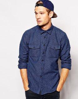 Asos - Long Sleeve Twill Shirt