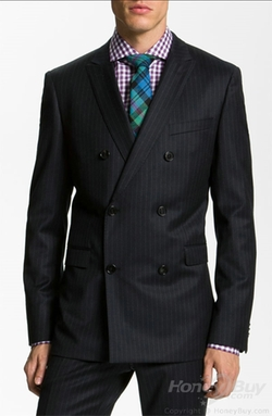Honey Buy - Double Breasted Peak Lapel Stripes Suits