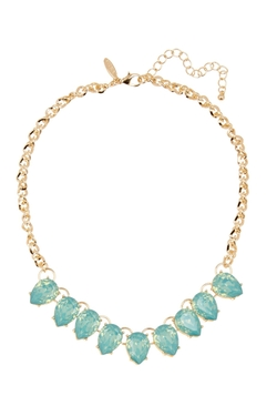 Natasha Accessories - Teardrop Crystal Statement Necklace