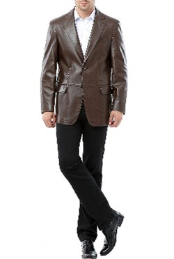 BGSD - Two-Button New Zealand Lambskin Leather Blazer
