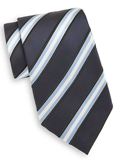 Saks Fifth Avenue  - Stripe Silk Tie