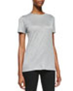 Victoria Beckham - Denim Short-Sleeve Crewneck Tee