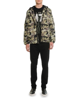 Givenchy - Nylon Camo-Print Hooded Jacket
