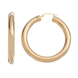 Gold Luxe - Diamond Accent Hoop Earrings
