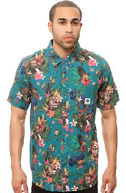 LRG  - The Hawaiian Safari SS Buttondown in Light Teal