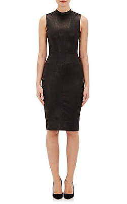 Narciso Rodriguez - Lambskin Fitted Sheath Dress
