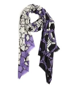 Wyatt  - Wool Cashmere Blend Pattern Printed Scarf