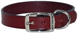 Hamilton - Creased Burgundy Leather Dog Collar