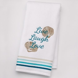 "Sonoma Life + Style  - Shoreline ""Live Laugh Love"" Hand Towel"