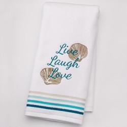 "Sonoma Life + Style  - Shoreline ""Live Laugh Love"" Hand Towel"