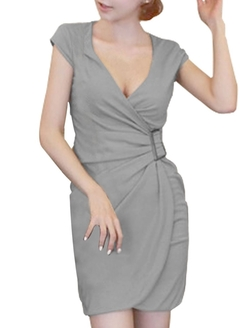 Uxcell - Cap Sleeve Sheath Dress