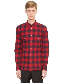 Givenchy   - Checked Cotton Flannel Western Shirt