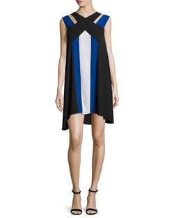 BCBGMAXAZRIA  - Chantal V-Neck Colorblock Dress