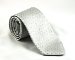 Anto Beverly Hills - Silver Small Square Tie