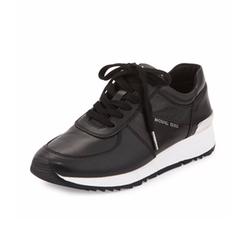 Michael Michael Kors  - Allie Leather Trainer Sneaker