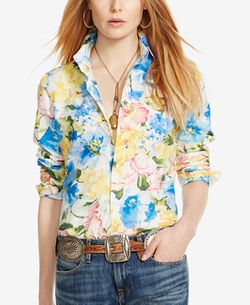 Polo Ralph Lauren  - Custom-Fit Floral-Print Shirt