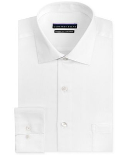 Geoffrey Beene - Classic Fit Non-Iron Sateen Solid Dress Shirt