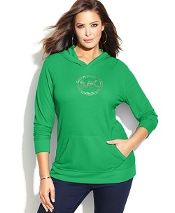 Michael Michael Kors - Waffle-Knit Hooded Logo Tee Shirt