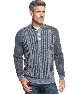 Tommy Bahama - Mock-Neck Cable-Knit Sweater