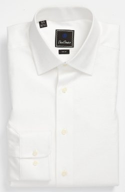 David Donahue - Royal Oxford Trim Fit Dress Shirt