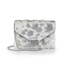 Loeffler Randall  - Calf Hair & Leather Lock Clutch Bag