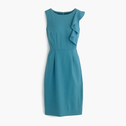 J Crew - Ruffle Front Sheath Dress