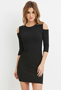 Forever 21 - Open-Shoulder Bodycon Dress