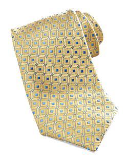 Charvet  - Geometric Dot Silk Tie