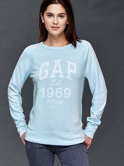 Gap - Crackle Logo Crew Pullover Sweater