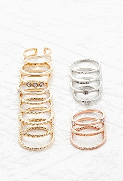 Forever 21 - Mixed Band Midi Ring Set