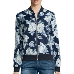 i Jeans By Buffalo - Floral Print Bomber Jacket
