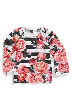 Molo - Evette Floral & Stripe Print Long Sleeve Tee