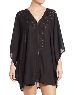 Melissa Odabash - Iolite Embroidered Tunic Cover Up