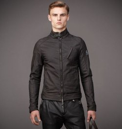 Belstaff - H Racer Jacket in Washed Rubberized Jersey