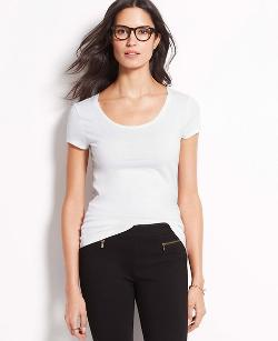 Ann Taylor - Scoop Neck Tee